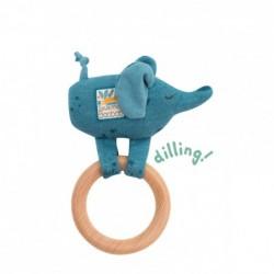 Anneau-hochet bois éléphant...