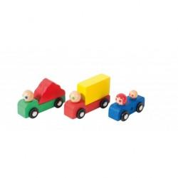 Ensemble voiture + camions...