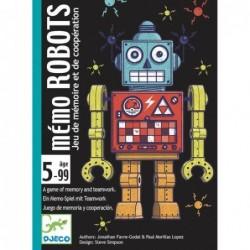 Jeu de cartes Mémo Robots